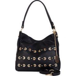 Torebki klasyczne damskie: Skórzana torebka w kolorze czarnym - 30 x 25 x 8 cm