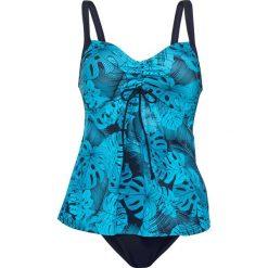 Stroje kąpielowe damskie: Tankini (2 części) bonprix niebiesko-turkusowy