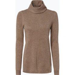 Marie Lund - Damski sweter z wełny merino, beżowy. Brązowe golfy damskie Marie Lund, m, z dzianiny. Za 229,95 zł.