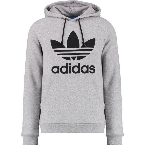 adidas Originals TREFOIL Bluza z kapturem mottled grey
