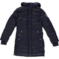 Parka zimowa w kolorze granatowym. Niebieskie kurtki dziewczęce zimowe marki Geographical Norway Kids & Women, z aplikacjami. W wyprzedaży za 250,95 zł.