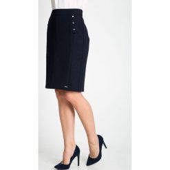 Spódnice wieczorowe: Granatowa ołówkowa spódnica z guzikami QUIOSQUE