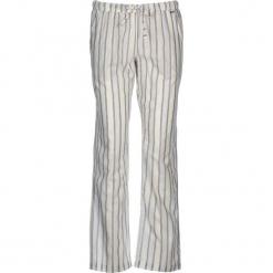 Spodnie piżamowe w kolorze biało-błękitno-szarym. Białe piżamy damskie marki LASCANA, w koronkowe wzory, z koronki. W wyprzedaży za 81,95 zł.