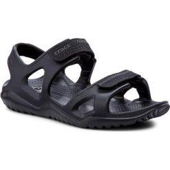 Sandały CROCS - Swiftwater River Sandal M 203965 Black/Black. Czarne sandały męskie skórzane marki Crocs. W wyprzedaży za 149,00 zł.