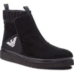Kozaki EMPORIO ARMANI - X4M303 XL471 K001 Black/Black. Szare buty zimowe męskie marki Emporio Armani, l, z dzianiny. Za 1139,00 zł.