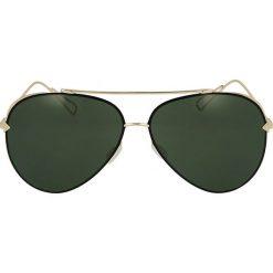 Złote okulary przeciwsłoneczne. Żółte okulary przeciwsłoneczne damskie Kazar. Za 369,00 zł.