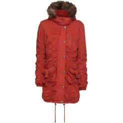 Płaszcz zimowy bonprix czerwony karminowy. Czerwone płaszcze damskie pastelowe bonprix, na zimę. Za 269,99 zł.