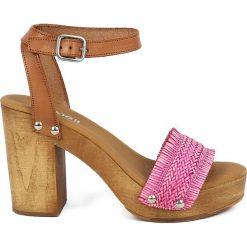 Sandały damskie: Sandały w kolorze jasnobrązowo-różowym