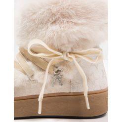 Buty zimowe damskie: Replay Botki sznurowane white