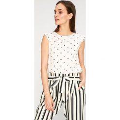 Answear - Top Stripes Vibes. Szare topy damskie marki ANSWEAR, l, z bawełny, z okrągłym kołnierzem. W wyprzedaży za 49,90 zł.