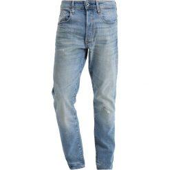 GStar 3301 TAPERED Jeansy Zwężane lyse stretch denim. Białe jeansy męskie marki G-Star, z nadrukiem. Za 419,00 zł.