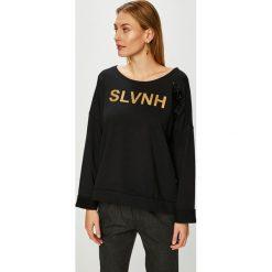 Silvian Heach - Bluza. Czarne bluzy rozpinane damskie Silvian Heach, l, z nadrukiem, z bawełny, bez kaptura. Za 249,90 zł.