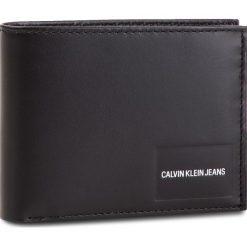 Duży Portfel Męski CALVIN KLEIN JEANS - Coated Canvas Bilfold Coin Pass K40K400831 001. Czarne portfele męskie Calvin Klein Jeans, z jeansu. Za 299,00 zł.