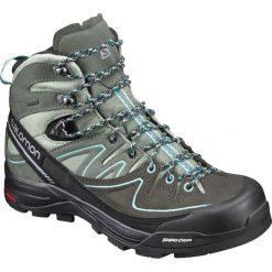 Buty trekkingowe damskie: Salomon Buty damskie X Alp Mid Ltr GTX Shadow/Castor Gray/Aruba Blue r. 41 1/3 (394732)