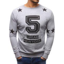 Bluzy męskie: Bluza męska z nadrukiem szara (bx1188)