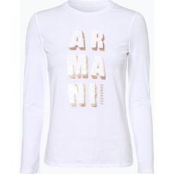 Armani Exchange - Damska koszulka z długim rękawem, czarny. Czarne t-shirty damskie marki Armani Exchange, l, z materiału, z kapturem. Za 299,95 zł.