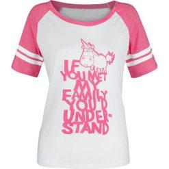 Minions Einhorn - My Family Koszulka damska biały/neonowo-różowy melanż. Białe bluzki z odkrytymi ramionami Minions, m, melanż. Za 62,90 zł.