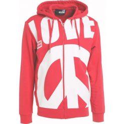 Odzież damska: Love Moschino ZIPPED HOODIE Bluza rozpinana red/white