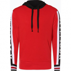 Tommy Hilfiger - Męska bluza nierozpinana, czerwony. Czerwone bluzy męskie rozpinane marki KALENJI, m, z elastanu, z długim rękawem, długie. Za 539,95 zł.