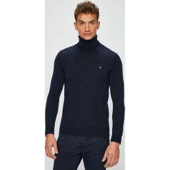 Guess Jeans - Sweter. Szare golfy męskie marki Guess Jeans, l, z aplikacjami, z bawełny. Za 329,90 zł.