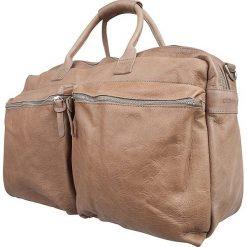 Torebki klasyczne damskie: Skórzana torba w kolorze szarobrązowym – 51 x 32 x 16 cm