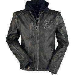 Volbeat EMP Signature Collection Kurtka skórzana czarny/brązowy. Brązowe kurtki męskie bomber Volbeat, xl, z aplikacjami, ze skóry, z kapturem. Za 812,90 zł.