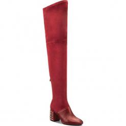 Muszkieterki CARINII - B4456 J68-L92-000-C99. Czerwone buty zimowe damskie Carinii, z materiału, na obcasie. W wyprzedaży za 319,00 zł.