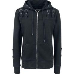 Chemical Black Nico Hood Bluza z kapturem czarny. Czarne bluzy męskie rozpinane Chemical Black, m, w paski, z kapturem. Za 264,90 zł.