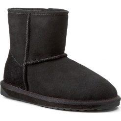 Buty EMU AUSTRALIA - Stinger Mini W10003 Black 2015. Czarne buty zimowe damskie EMU Australia, ze skóry, na niskim obcasie. W wyprzedaży za 499,00 zł.
