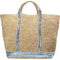 Shopper bag damskie: Vanessa Bruno CABAS GRAND PAILLETTES Torba na zakupy aqua