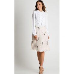 Spódniczki: Delikatna plisowana spódnica BIALCON