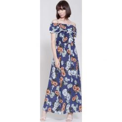 Sukienki: Niebiesko-Brązowa Sukienka Remember Time
