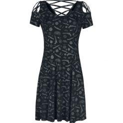 Supernatural Symbole Allover Sukienka czarny. Czarne sukienki na komunię Supernatural, s, z nadrukiem, z materiału, z dekoltem na plecach. Za 164,90 zł.
