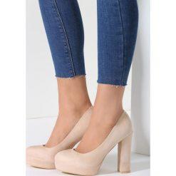Buty ślubne damskie: Beżowe Czółenka Birdly