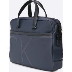 Calvin Klein Jeans - Torebka. Szare torby na laptopa marki Calvin Klein Jeans, w paski, z bawełny, małe. W wyprzedaży za 559,90 zł.