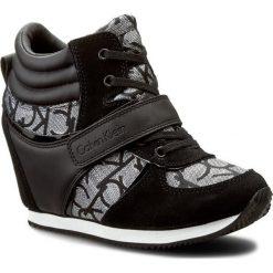 Sneakersy CALVIN KLEIN JEANS - Viridiana RE9642 Silver/Bla. Czarne sneakersy damskie Calvin Klein Jeans, z jeansu. Za 599,90 zł.