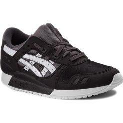 Sneakersy ASICS - TIGER Gel-Lyte III GS C5A4N Dark Grey/White 9501. Czarne trampki chłopięce Asics, z materiału, na sznurówki. W wyprzedaży za 239,00 zł.