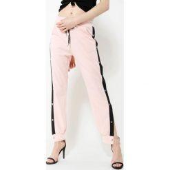 Spodnie dresowe damskie: Różowe Spodnie Dresowe Long Way