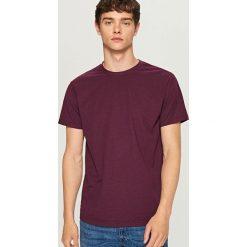 Melanżowy t-shirt - Bordowy. Czerwone t-shirty męskie Reserved, l. Za 29,99 zł.