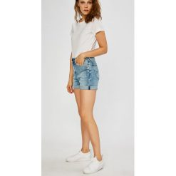 Lee - Szorty. Szare szorty jeansowe damskie marki Lee, casualowe, z podwyższonym stanem. Za 269,90 zł.
