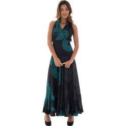 Odzież damska: Sukienka w kolorze czarno-turkusowym