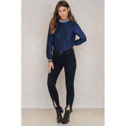 Spodnie z wysokim stanem: Rut&Circle Jeansy z suwakiem Hanne - Black