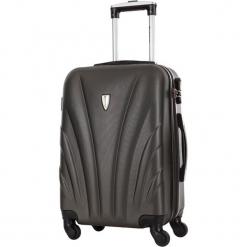 Walizka w kolorze szarym - 99 l. Szare walizki marki Platinium, z materiału. W wyprzedaży za 299,95 zł.