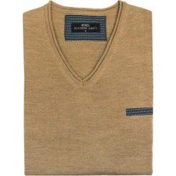 Sweter Dario SWE000022. Niebieskie swetry klasyczne męskie marki Giacomo Conti, m, z tkaniny, klasyczne. Za 229,00 zł.