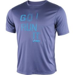 T-shirty męskie z nadrukiem: koszulka do biegania męska ASICS SHORT SLEEVE TEE / 125141-8133