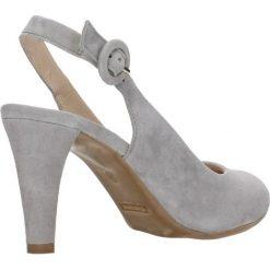 Czółenka FRIDA. Szare buty ślubne damskie Gino Rossi, w paski, ze skóry, na słupku. Za 199,90 zł.