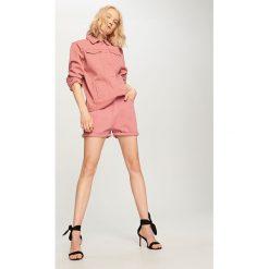 Szorty damskie: Jeansowe szorty – Różowy
