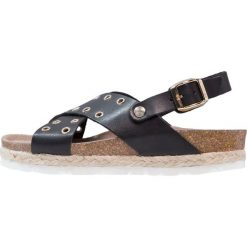 Genuins PALERMO  Sandały black. Czarne sandały chłopięce Genuins, z materiału, z otwartym noskiem. W wyprzedaży za 174,30 zł.
