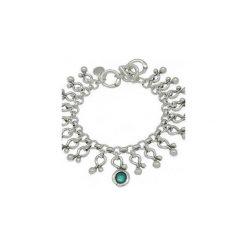 Posrebrzana Bransoletka z wiszącymi elementami - 172128. Zielone bransoletki damskie z cyrkoniami marki Pearls Special, ze stali. Za 339,00 zł.