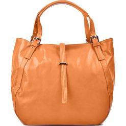 Torebki klasyczne damskie: Skórzana torebka w kolorze koniaku – (S)30 x (W)45 x (G)13 cm